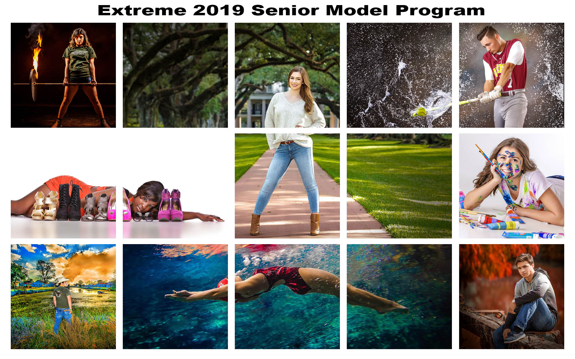 Extreme 2019 Senior Model Program Kirk Voclain Photography