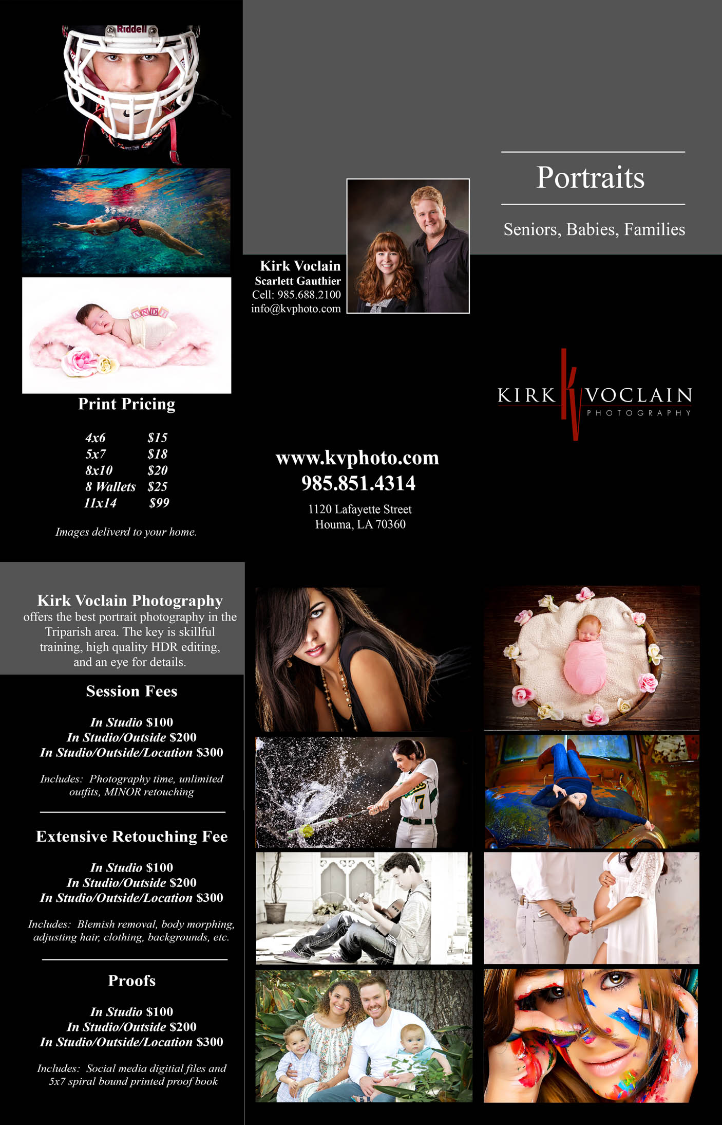 Kirk Voclain Photography Houma Senior Pictures Pricing