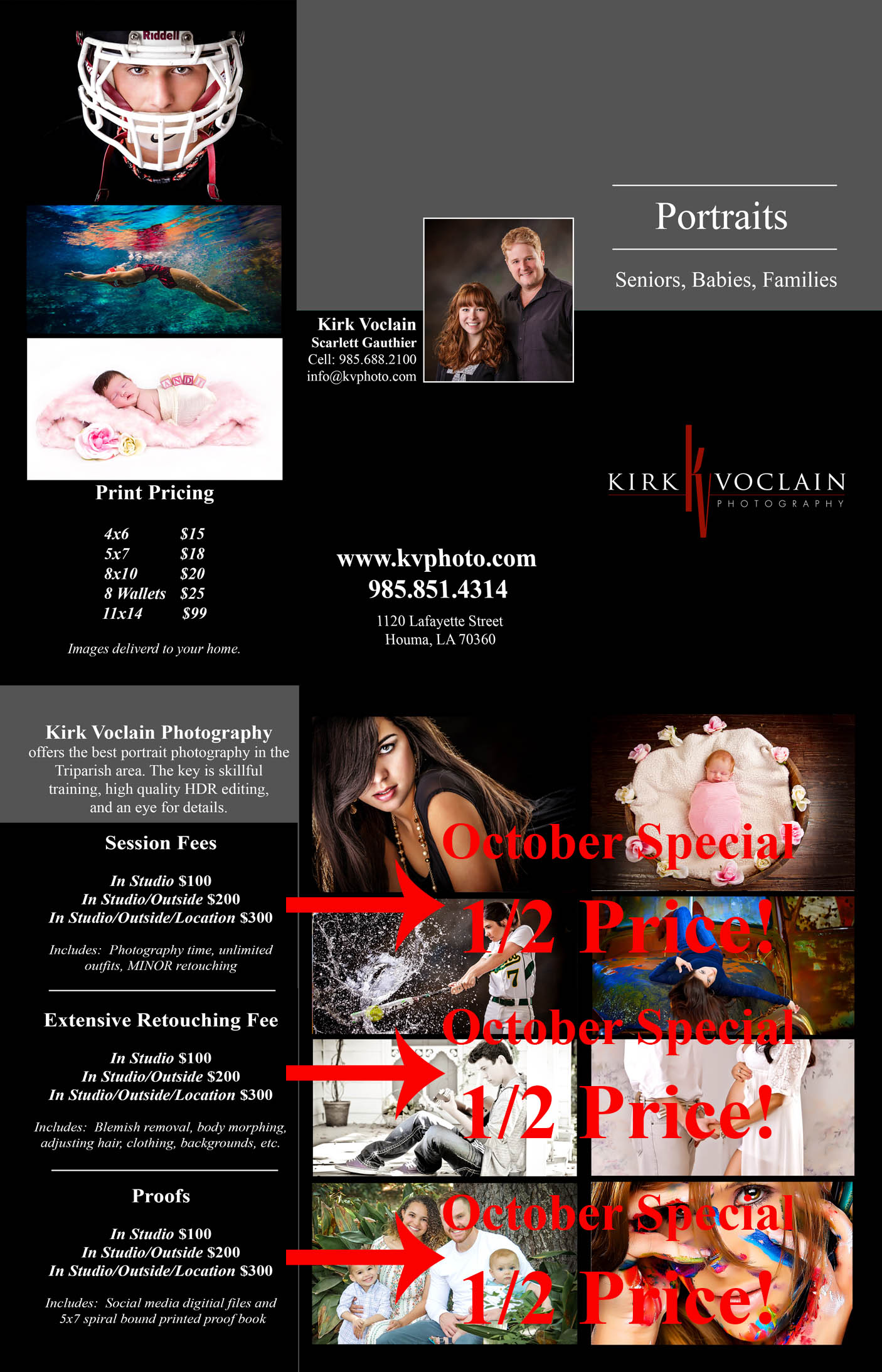 Kirk Voclain Photography Houma Senior Pictures SPECIAL OCTOBER Pricing